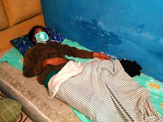 Arya Adikristya, mahasiswa UKSW, dalam kondisi sakit (Foto: Bima Satria Putra).